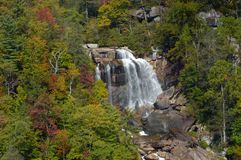 Fall Scenes. White Water Falls in South Carolina Stock Image