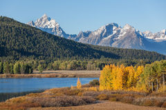 Fall Scenic in the Tetons Stock Photography