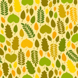 Fall seamless texture. With color leaves. Vector illustration Stock Image