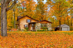 Fall season at the cottage Stock Photo