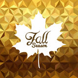 Fall season gold low poly background maple leaf Royalty Free Stock Photography