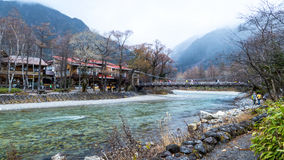 Fall season of kamikochi national park, Japan Royalty Free Stock Photography