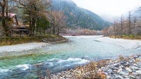 Fall season of kamikochi national park, Japan Stock Image
