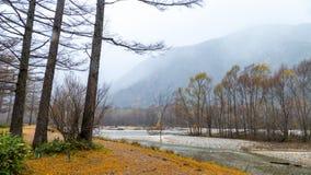 Fall season of kamikochi national park, Japan Stock Photography