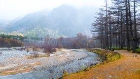 Fall season of kamikochi national park, Japan Stock Photo