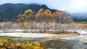 Fall season of kamikochi national park, Japan Stock Images