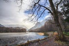 Fall season of kamikochi national park, Japan Stock Photos