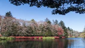 Fall season of kamikochi national park, Japan Royalty Free Stock Photos