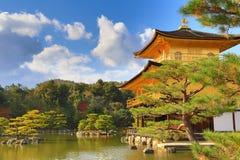 Fall season of Kinkaku-ji Zen Buddhist temple Royalty Free Stock Photo