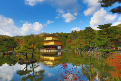 Fall season of Kinkaku-ji Zen Buddhist temple Royalty Free Stock Photography