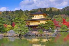 Fall season of Kinkaku-ji Zen Buddhist temple Royalty Free Stock Image