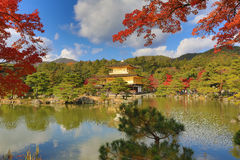Fall season of Kinkaku-ji Zen Buddhist temple Royalty Free Stock Images