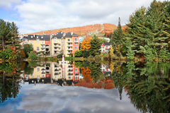 Fall Season in Mont-Tremblant, Quebec, Canada. Mont-Tremblant Resort in the Fall Stock Image
