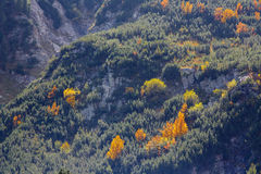 Fall season in mountains Royalty Free Stock Photos