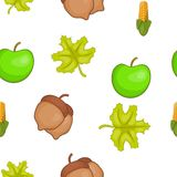 Fall season pattern, cartoon style Stock Image