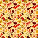 Fall season seamless pattern. Royalty Free Stock Photos