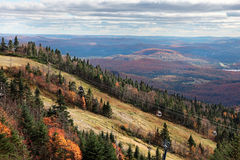 Fall Season on top of Mont-Tremblant Royalty Free Stock Photography