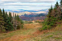 Fall Season on top of Mont-Tremblant, Canada. The top of Mont-Tremblant, Quebec, Canada during fall Stock Images