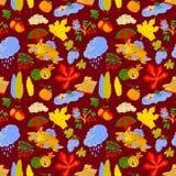 Fall season vector seamless pattern Royalty Free Stock Images
