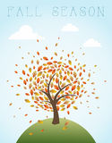 Fall season vintage global composition illustratio Royalty Free Stock Photos