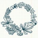 Fall season wreath Stock Photo