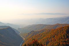Mount Bailongshan autumn, Shanxi, China royalty free stock photos