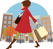 Fall shopping Stock Photography