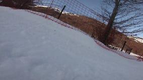 Fall in Ski auf französischen Pyrenean stock footage