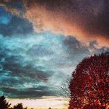 Fall Sky. Fall sky in the Midwest Stock Photos