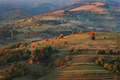 Fall landscape in Polana region stock images