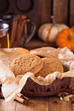 Fall snickerdoodle cookies with pumpkin Royalty Free Stock Photos