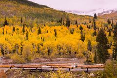 Fall at Solitude Ski Resort up Big Cottonwood Canyon Stock Photos