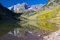 Fall Splendor at Maroon Bells Stock Photos
