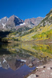 Fall Splendor at Maroon Bells Royalty Free Stock Photo
