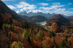 Fall st Hohenschwangau Castle,Fussen Stock Photos