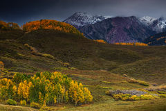 Fall Storms Over The West Elks stock image