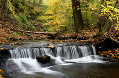 Fall Stream. Small waterfall and stream in Autumn Stock Photography