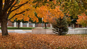 Fall street scene Royalty Free Stock Photography