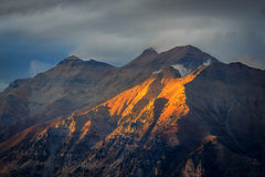 Fall sunlight landscape in the Wasatch Mountains. Stock Photography
