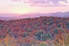 Fall sunrise Stock Image