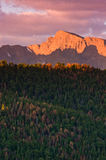 Fall Sunrise Over The Rocky Mountains Stock Photos