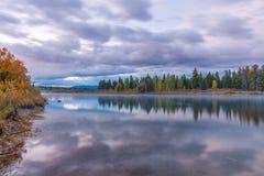 Fall Sunrise Reflection Royalty Free Stock Images