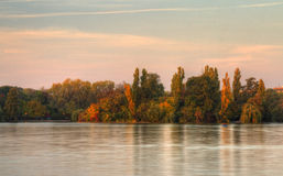 fall sunset στοκ φωτογραφίες