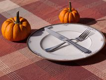 A fall table setting Stock Photography