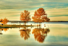 Fall in Texas. Fall at a lake near Waco texas Stock Photography