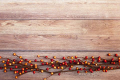 Fall Thanksgiving Background. With leaves Royalty Free Stock Photo