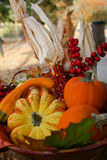 Fall Thanksgiving Harvest Basket Stock Images