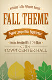 Fall Themed Poster. For an event Stock Images