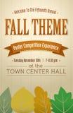 Fall-themenorientiertes Plakat Stockbilder
