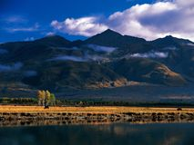 Fall in Tibet Stock Image